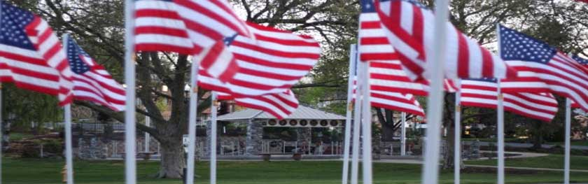 flags at Veterans Memorial Park